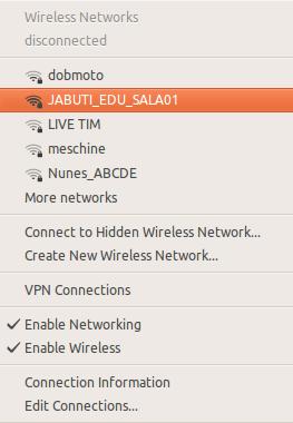 Ponto de acesso configurado na Raspberry Pi