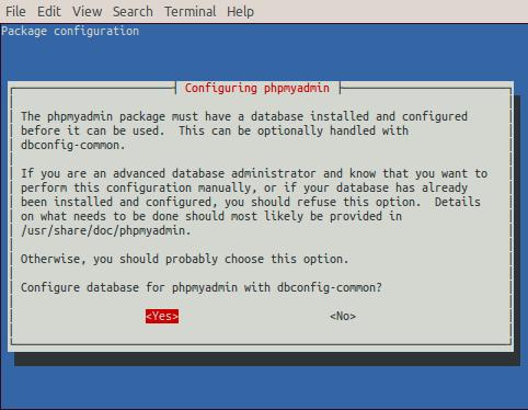 raspberry-install-phpmyadmin-configure