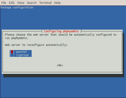 raspberry-install-phpmyadmin